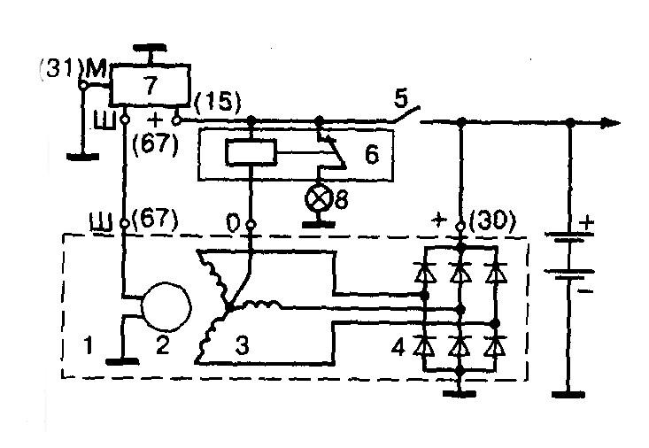 Схема подключения генератора ВАЗ-2107. Устройство генератора