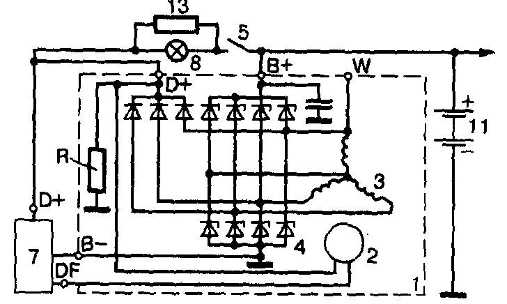 схема генератора иномарок