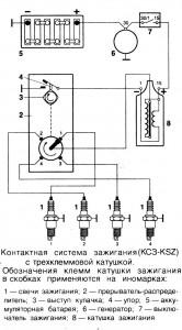 sistema zazhiganiya 166x300 - Схема контактной системы зажигания